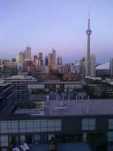 Toronto skyline from the rooftop of the Thompson Hotel