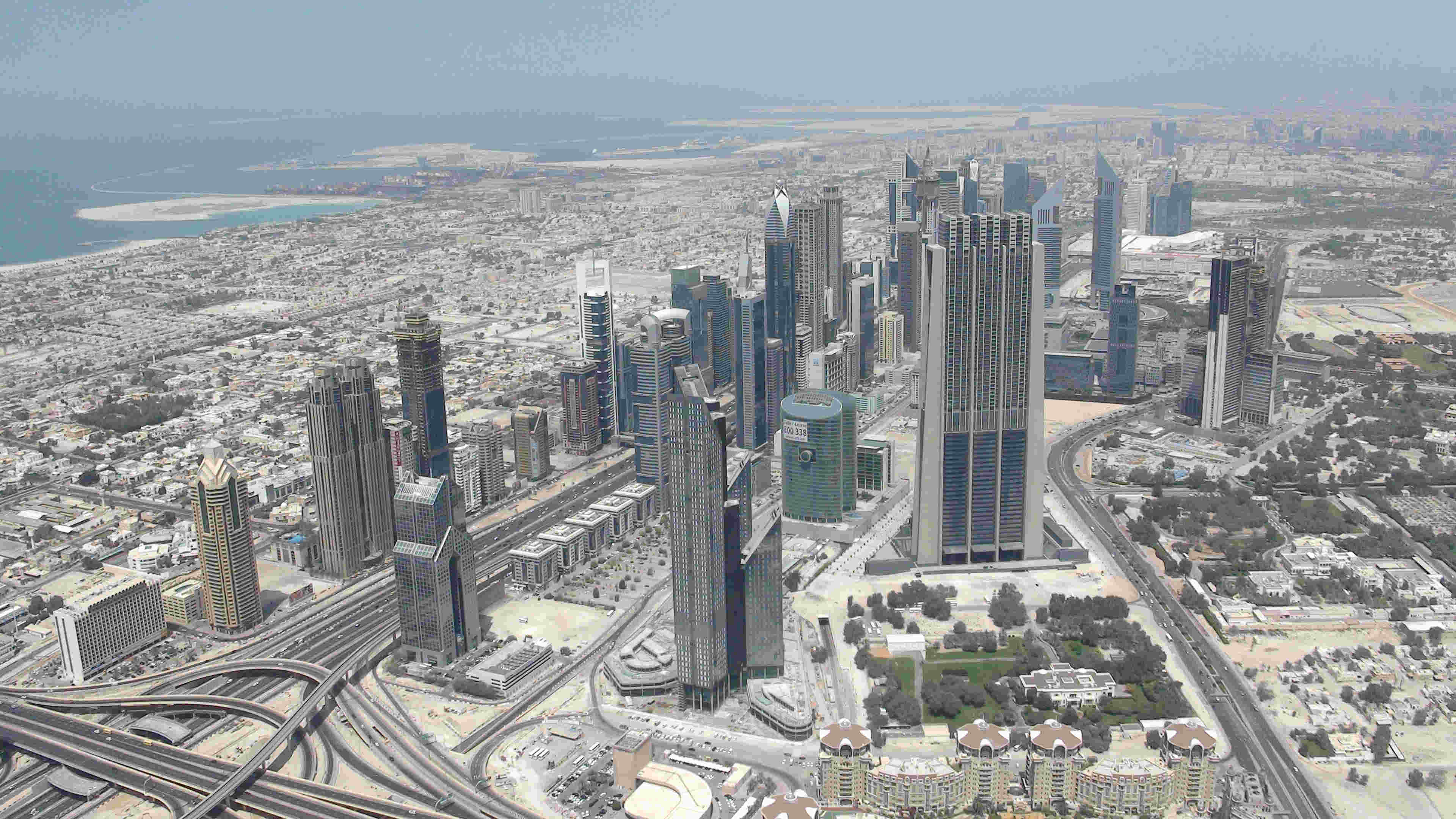 View from 124th floor Burj Kalifa