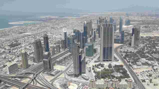 View from 124th floor Burj Kalifa