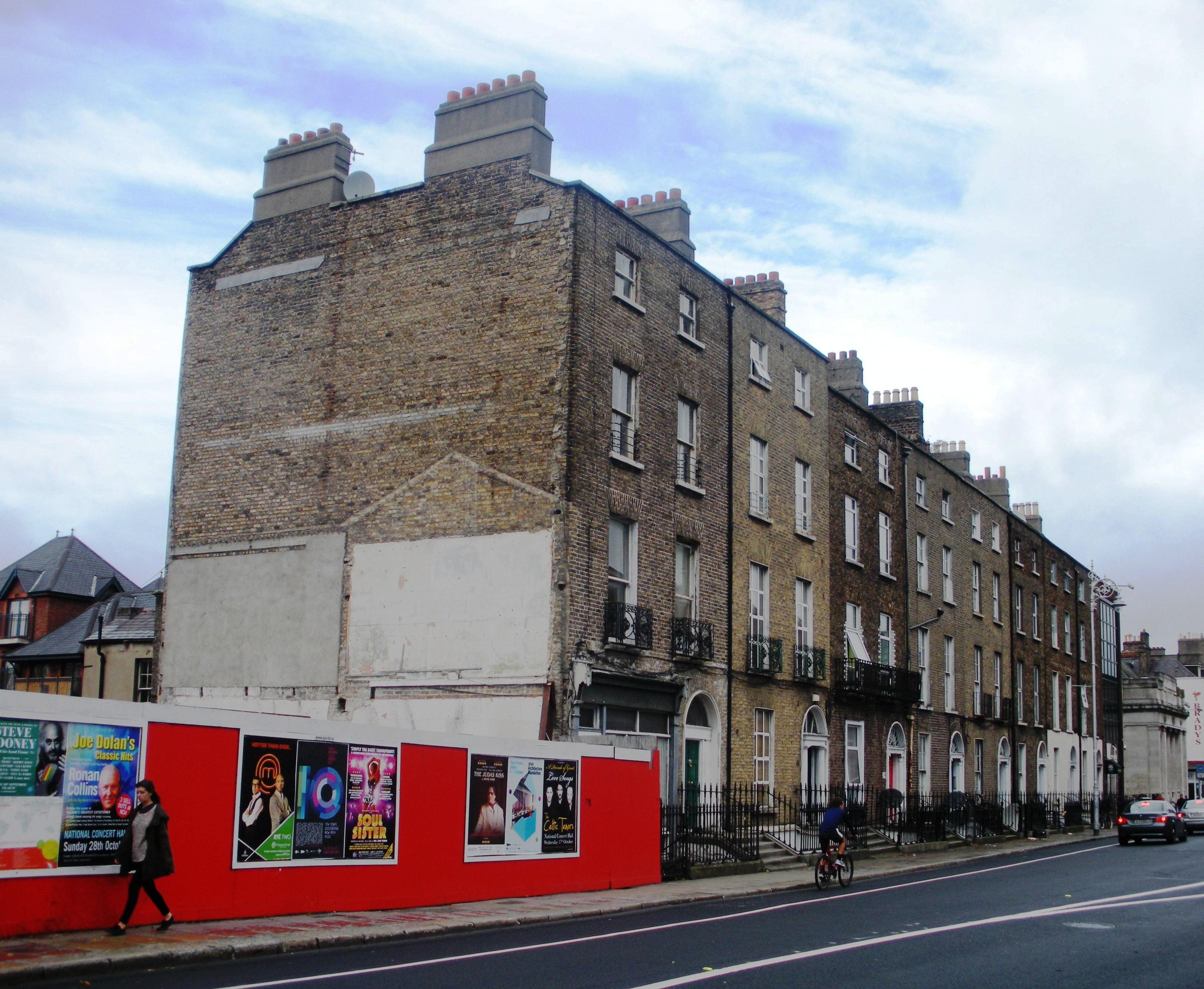 Walking down Richmond Street in Dublin
