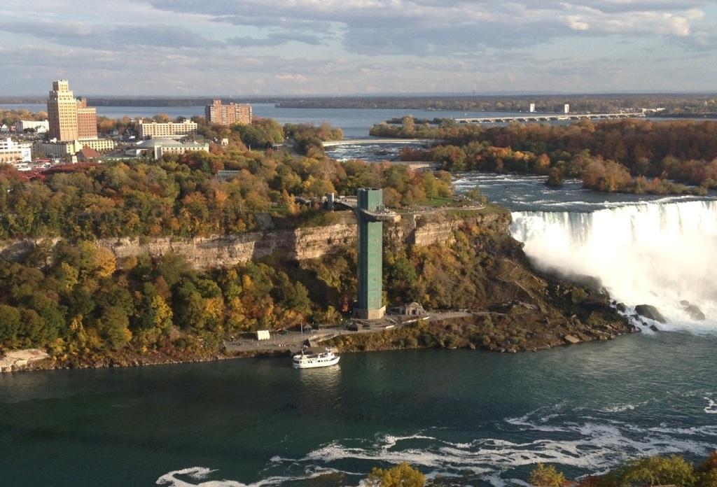 Looking at Niagara Falls USA from Niagara Falls Canada