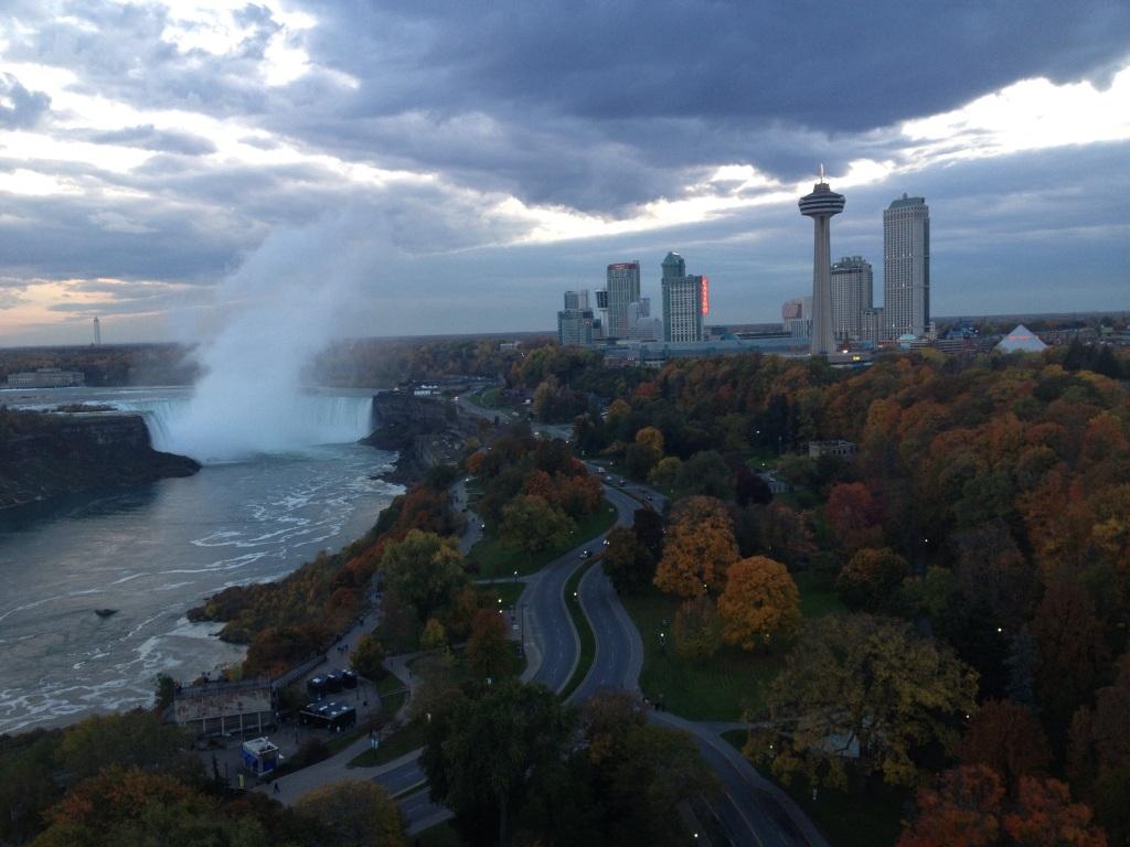 Niagara Falls Canada at sunset