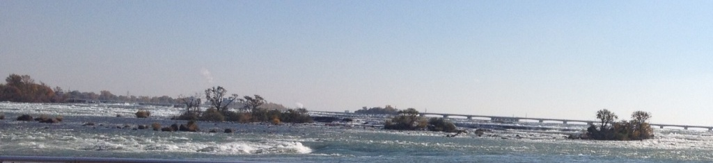 Just above the Falls on the Niagara River