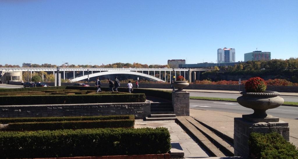 Looking at the Niagara Bridge in Niagara Falls