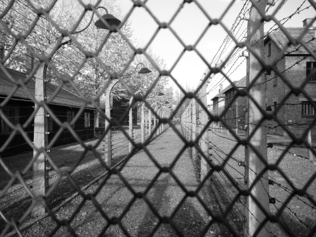 Auschwitz at the fence by marktravel
