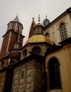 Wawel Cathedral with golden roof of Sigmuntus Chapel in Krakow by marktravel