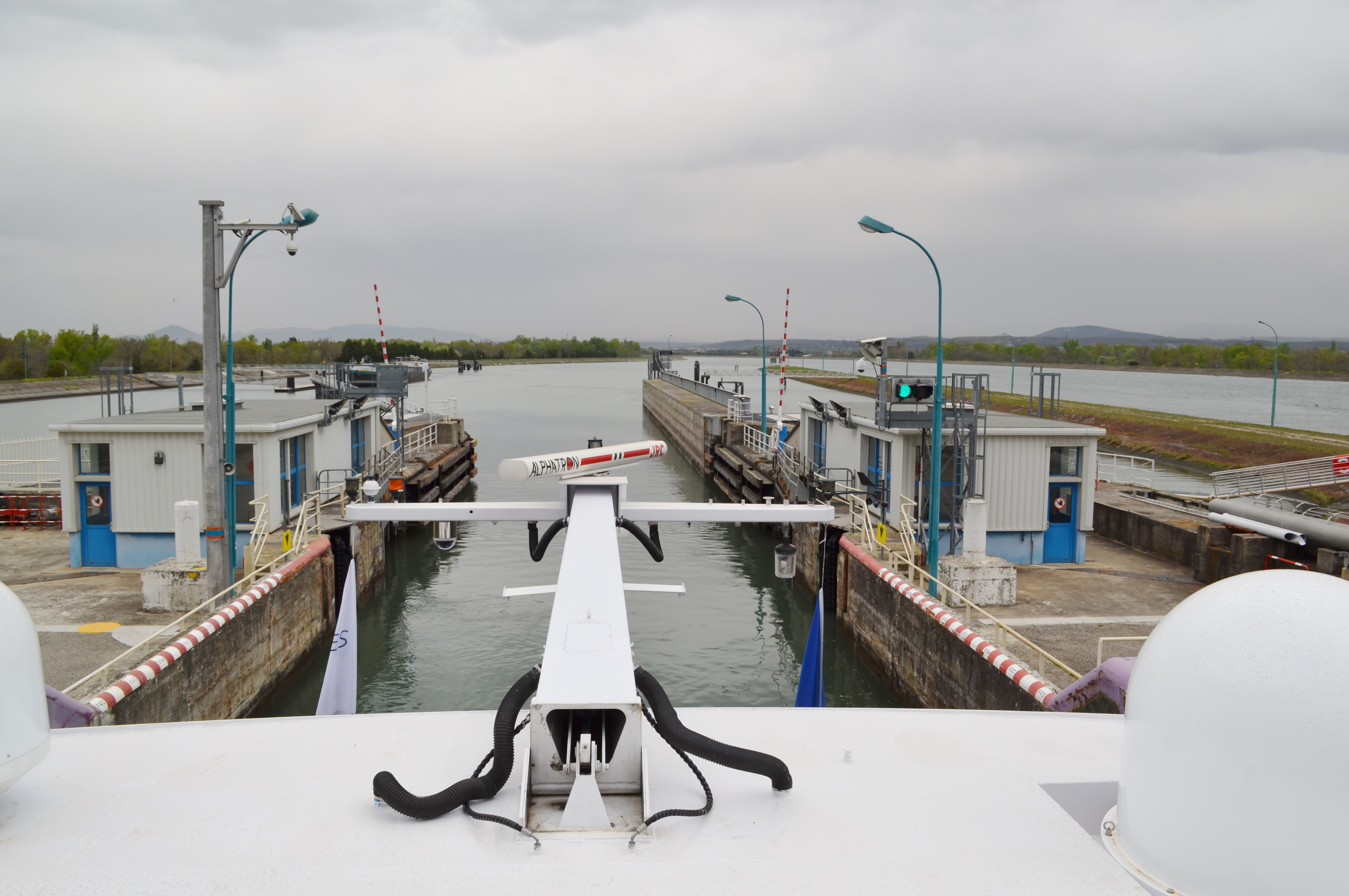 Navigating the Locks on the Rhone River, France