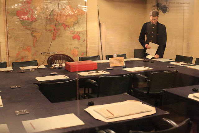 Recreated World War 2 communications room