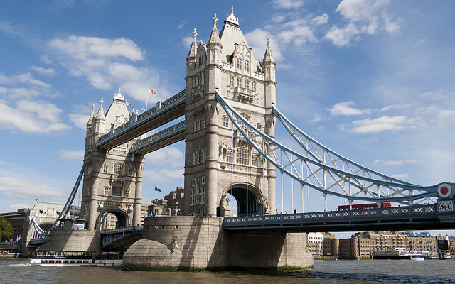One of London's many great sights is  Tower Bridge