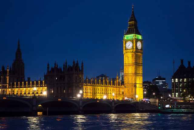 Night view of Big Ben and Parliament Buildings