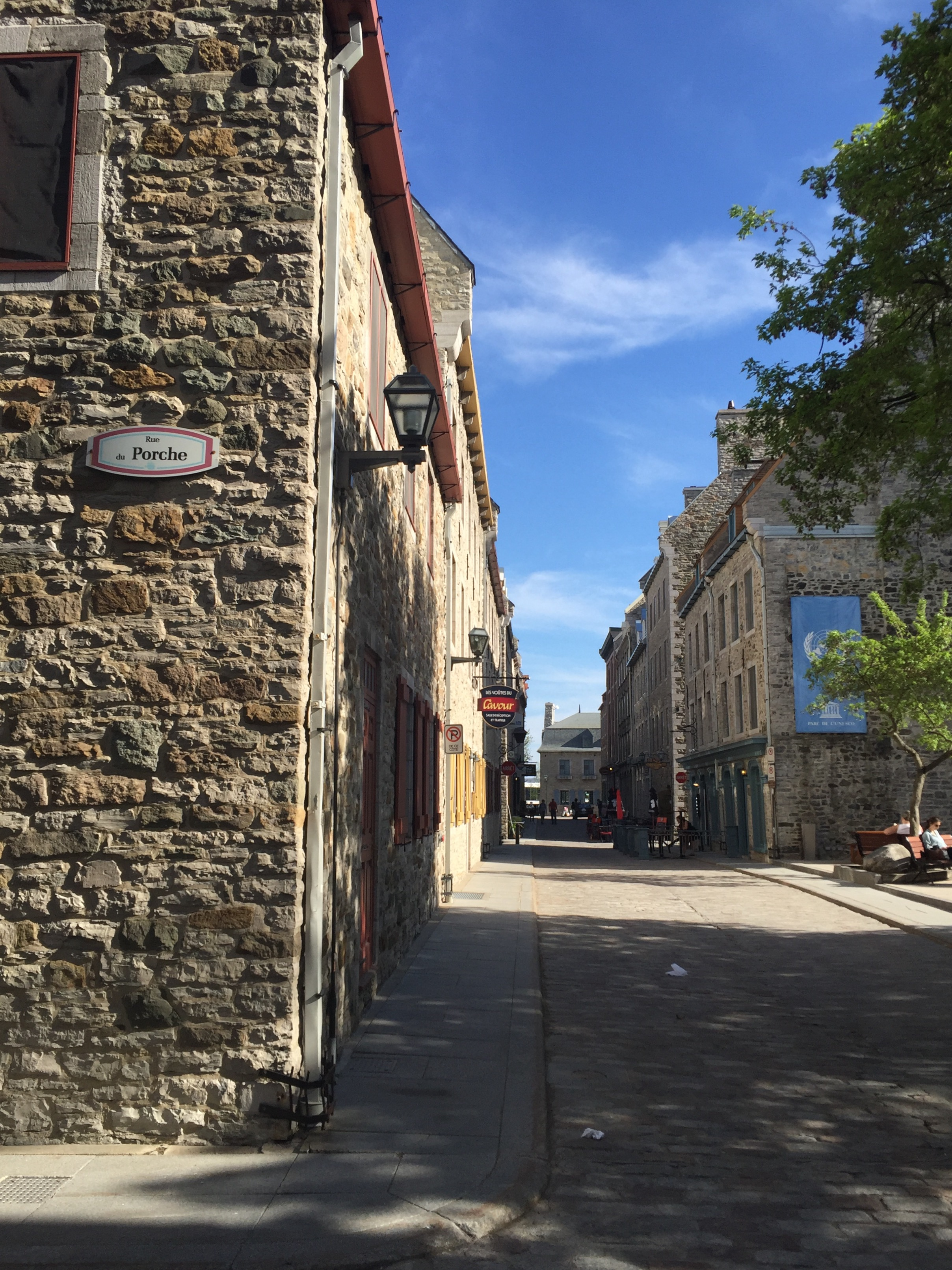 The old cobbled streets in Old Quebec City