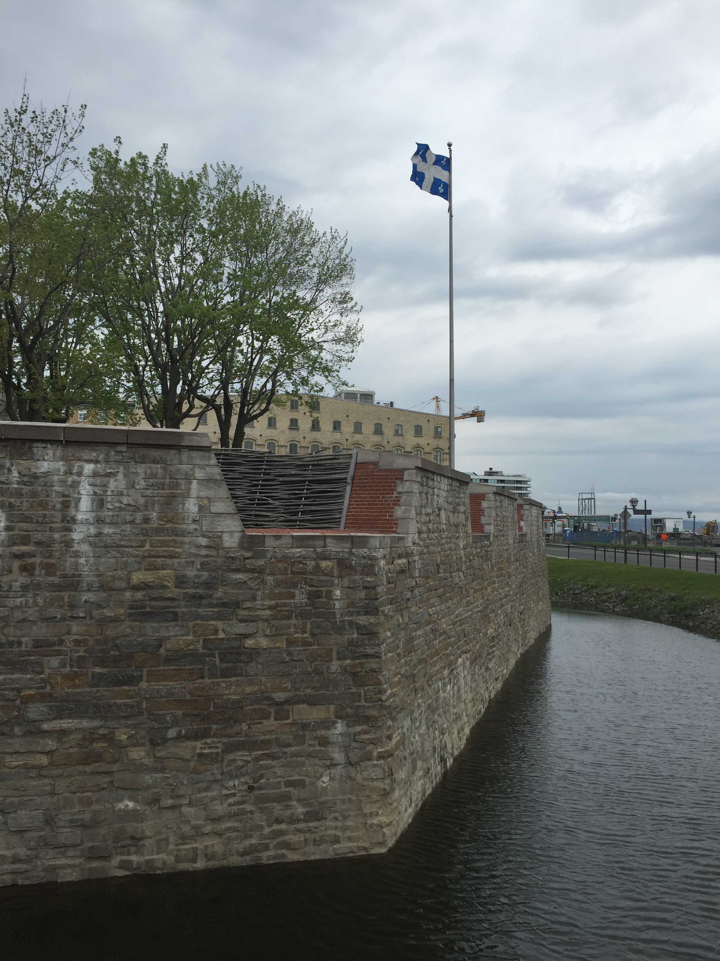 The old city walls in Quebec City, Canada