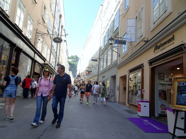The streets in Salzburg