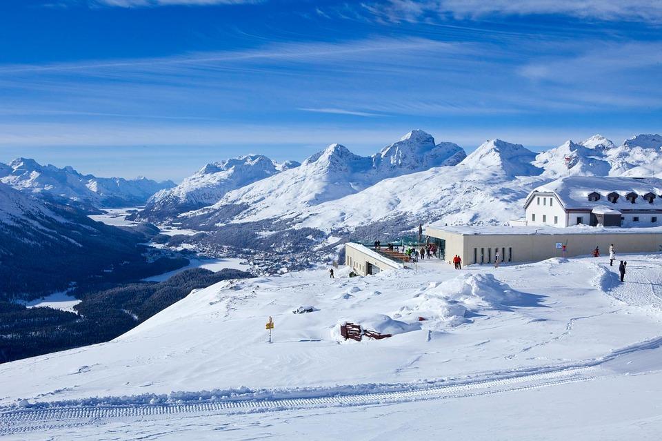 Skiing in St. Moritz, Switzerland