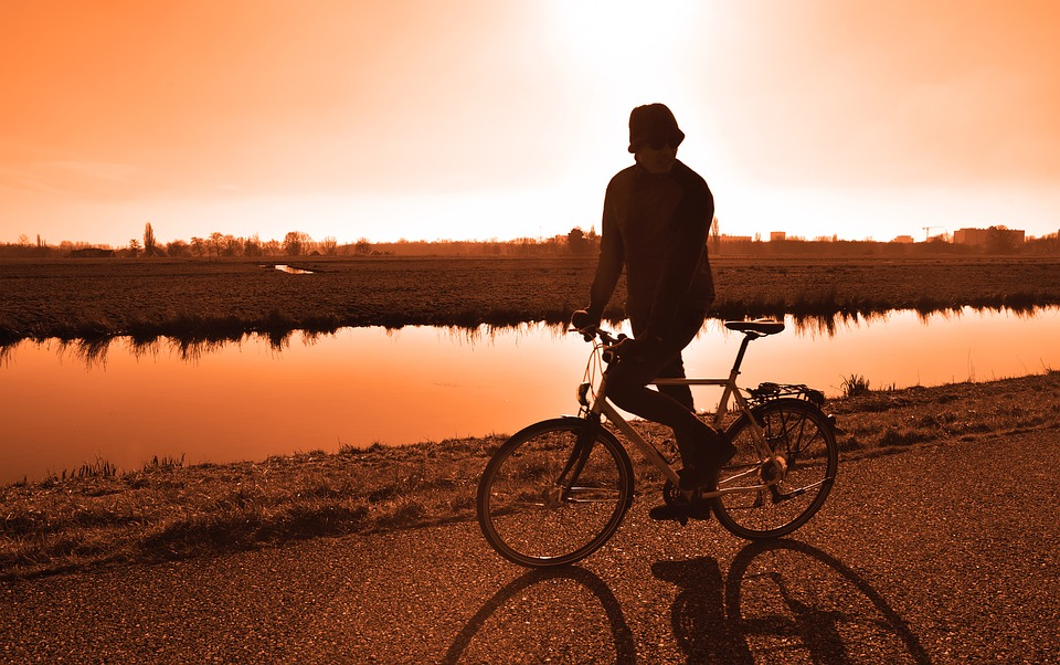 cycle into the sunset