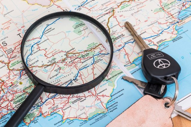 plan a road trip with your map in Australia