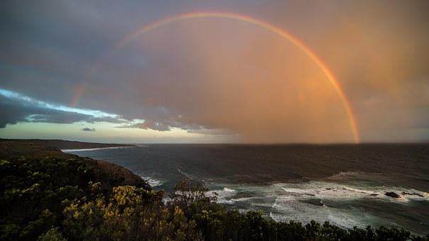 Rainbow Coast Sunset