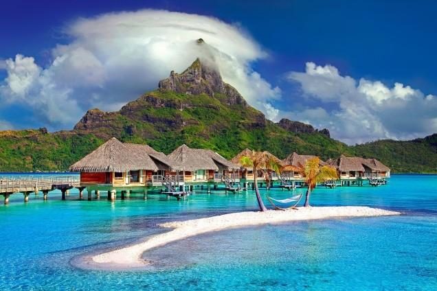 Bora Island in the Caribbean