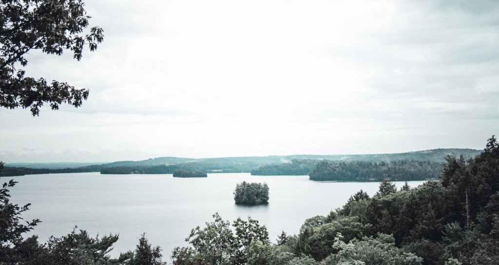 View of a lake in Muskoka Canada