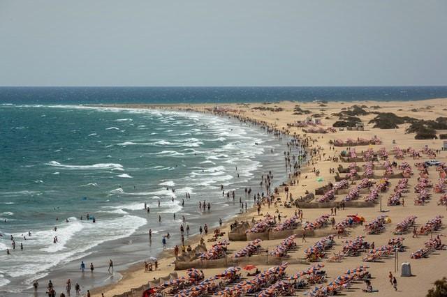 a beach on a Spanish island
