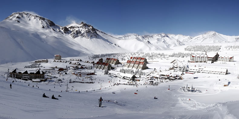 A view of Las Lenas Ski Resort in Argentina
