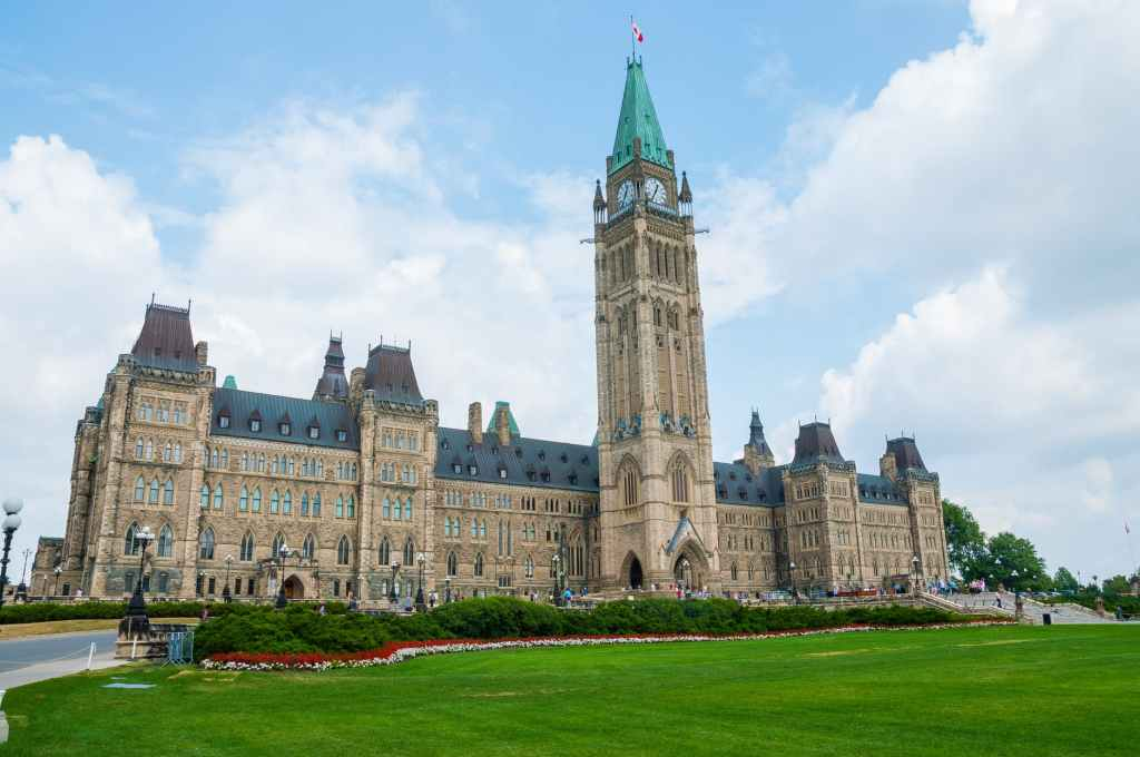 加拿大's Parliament Buildings in Ottawa