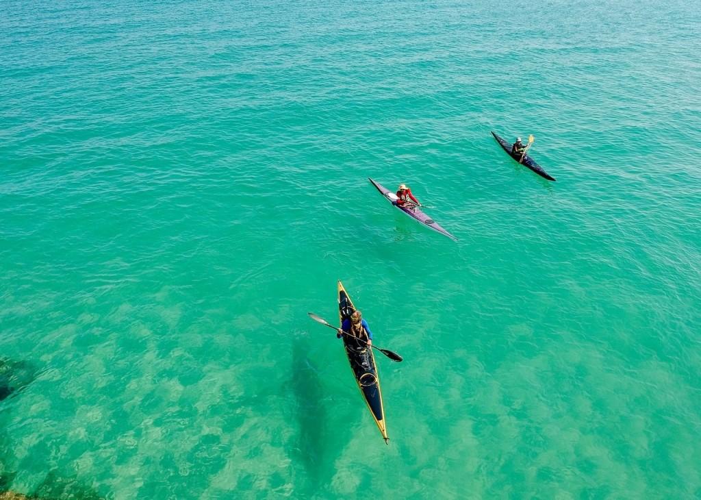 Family kayaking in Crystal River
