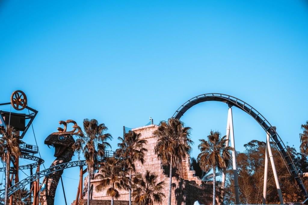 Rollercoaster in Tampa amusement park