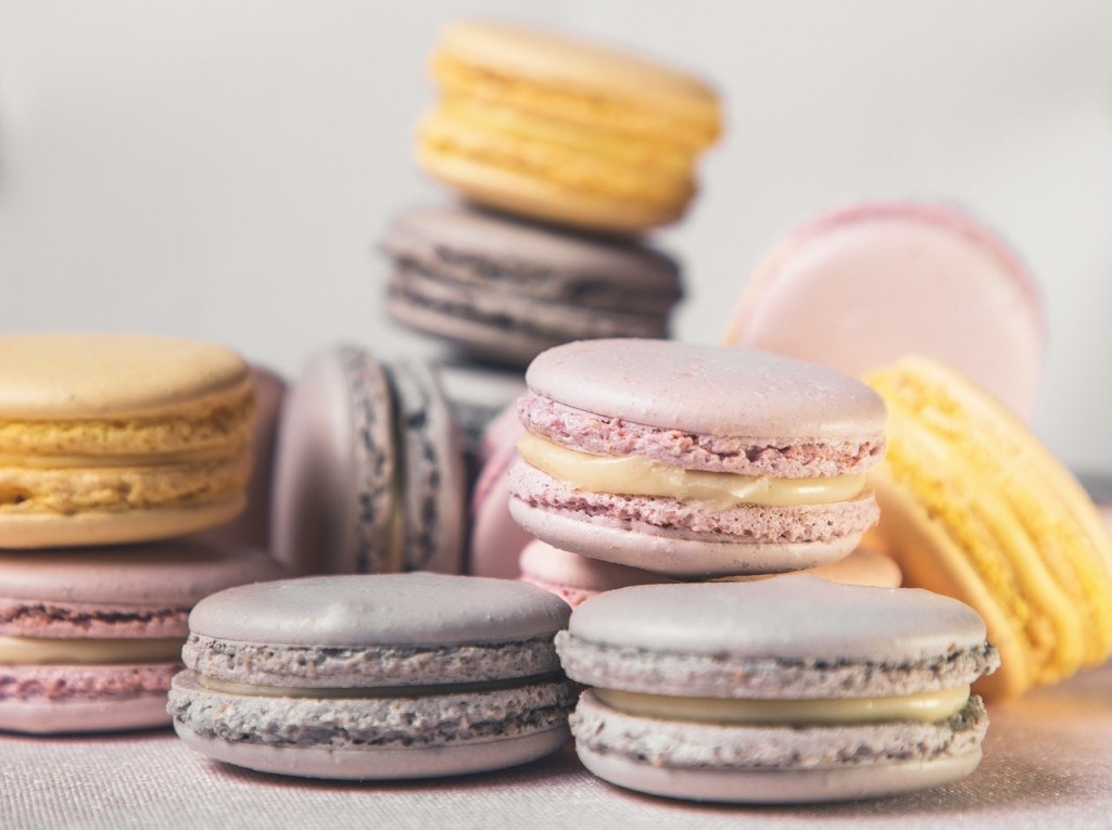 A selection of macaroons.