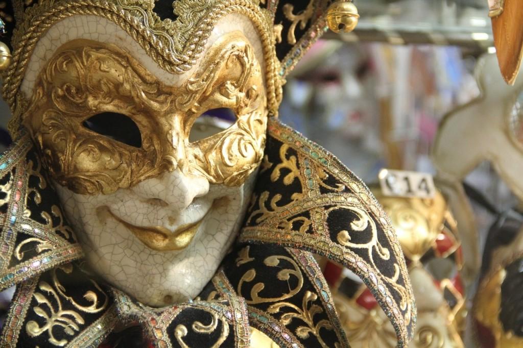 A Venetian mask.