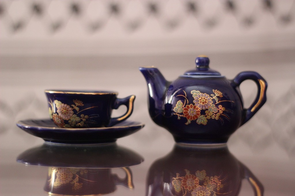 A teapot and cup.