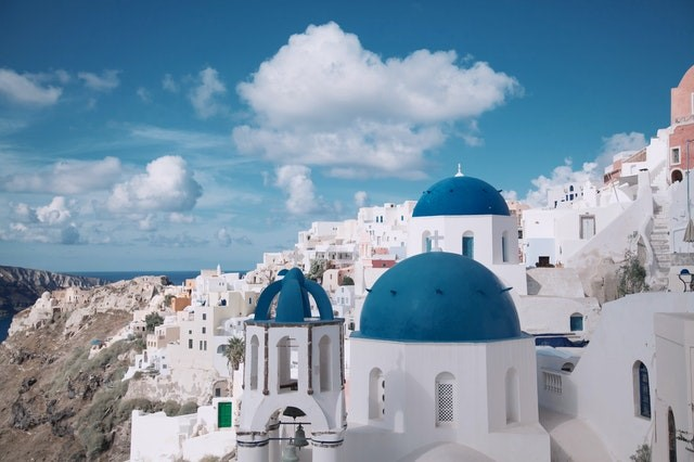 A view of Santorini, Greece, which is one of the most popular islands to travel to this summer.