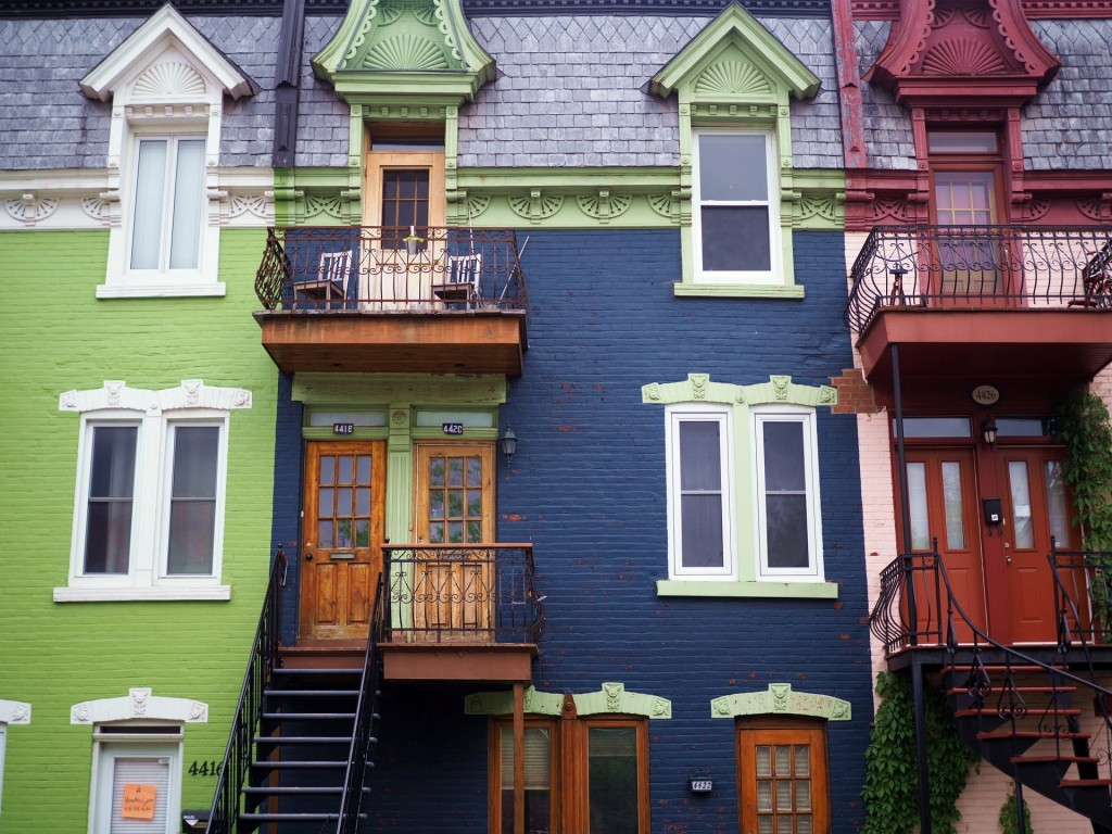 Colorful buildings.