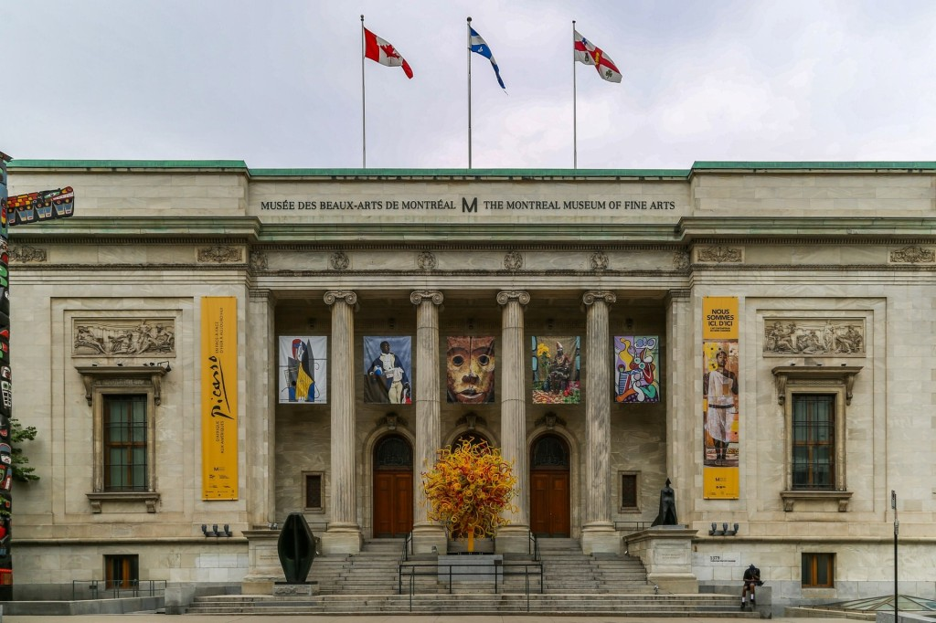 Facade of the Museum of Fine Arts in Montreal.